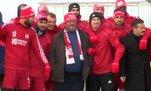 Fenomen simitçi Ahmet Sivasspor antrenmanında