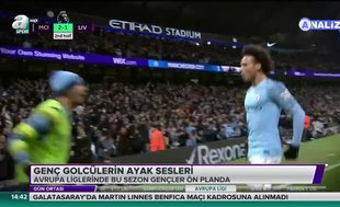 Genç golcülerin ayak sesleri