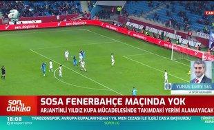 Sosa'dan Trabzonspor'a kötü haber!