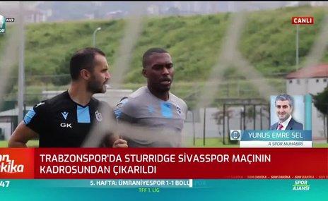 Trabzonspor'a Sturridge'den kötü haber!