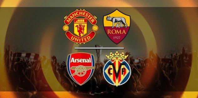 UEFA Avrupa Ligi: Manchester United-Roma / Villarreal-Arsenal | CANLI
