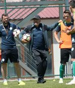 Konyaspor'da teknik heyet ve futbolcular kolbastı oynadı