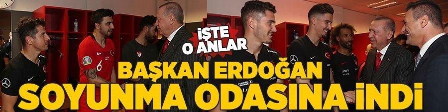 Başkan Erdoğan soyunma odasına indi! İşte o anlar