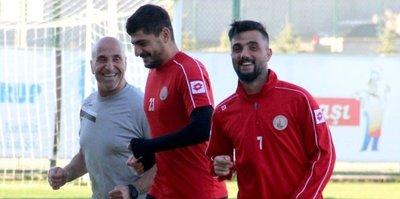 Sivas Belediyespor'da neşeli antrenman