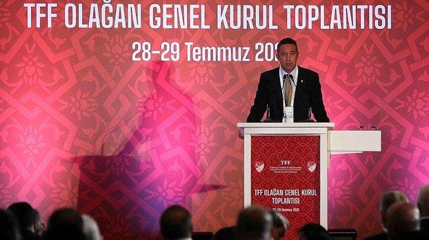 Fenerbahçe Başkanı Ali Koç TFF'nin Olağan Genel Kurulu'nda açıklamalarda bulundu!