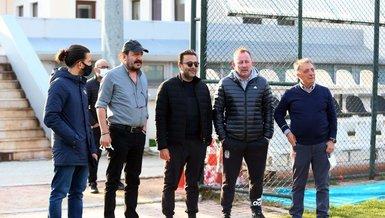 Son dakika spor haberleri: Beşiktaş'ın son antrenmanını Başkan Ahmet Nur Çebi de takip etti