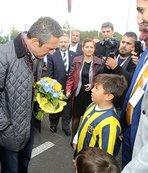 Fenerbahçe, Brüksel'de çiçeklerle karşılandı