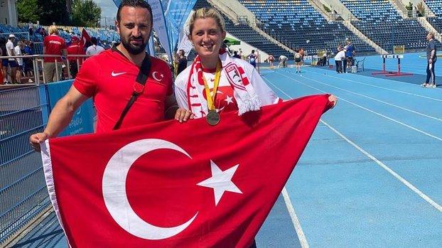 Son dakika spor haberi: Özel sporcu Fatma Damla heptatlonda dünya şampiyonuoldu