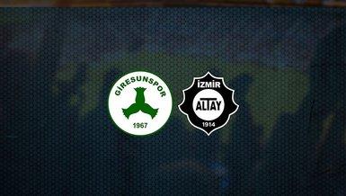 Giresunspor - Altay maçı ne zaman, saat kaçta ve hangi kanalda canlı yayınlanacak? | TFF 1. Lig