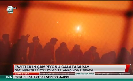 Twitter'ın şampiyonu Galatasaray