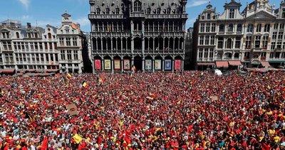 2018 Dünya Kupası üçüncüsü Belçika Brüksel'de şampiyon gibi karşılandı