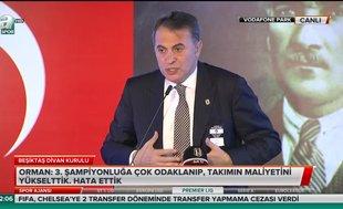 Beşiktaş Divan Kurulu'nda olay! Fikret Orman...