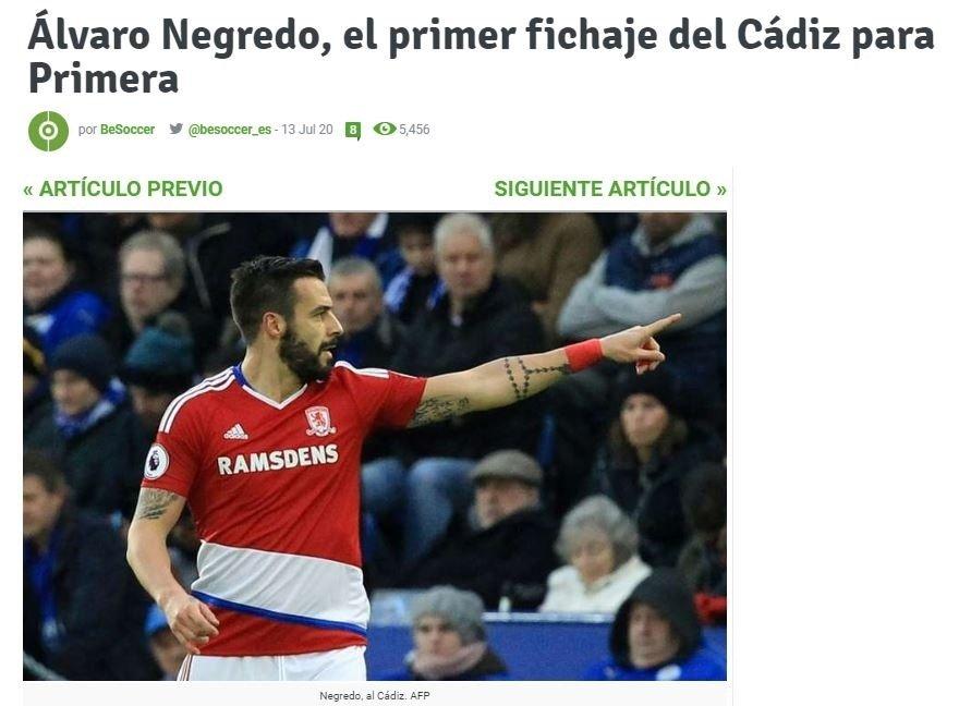 Cadiz başkanı Alvaro Negredo'yu transfer ettiklerini duyurdu - Futbol -