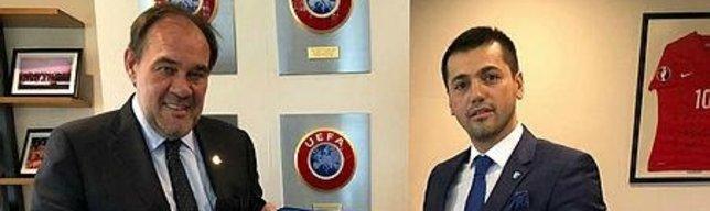 TFF Başkanı Demirören BB Erzurumspor Başkanı Üneş ile bir araya geldi
