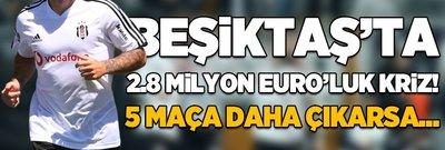 Beşiktaş'ta 2.8 milyon euro'luk kriz! 5 maça daha çıkarsa...