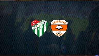 Bursaspor - Adanaspor maçı ne zaman, saat kaçta ve hangi kanalda canlı yayınlanacak? | TFF 1. Lig