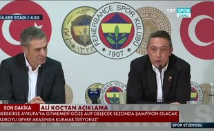 """Ali Koç'tan Ersun Yanal itirafı! """"Bu yüzden sözümüzden döndük"""""""