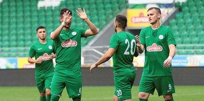 Çaykur Rizespor, hazırlık maçında Dinamo Batumi'yi mağlup etti