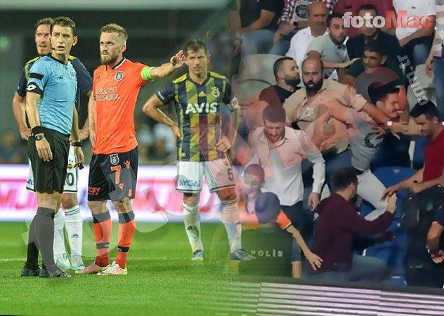 Fenerbahçe attı ortalık karıştı! Arda Turan'ın kardeşi... Başakşehir - Fenerbahçe maçında ekrana yansımayanlar