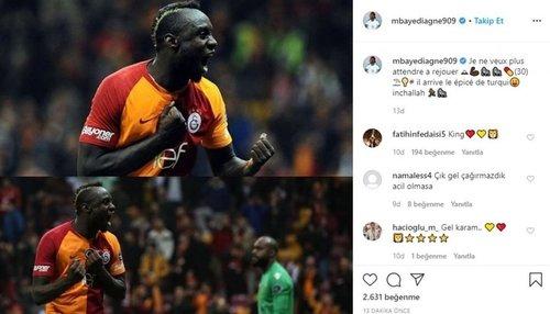 """1592923522319 - Mbaye Diagne Galatasaray camiasına seslendi! """"Bekleyemiyorum"""""""