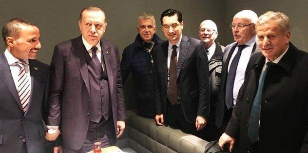 UEFA'dan Cumhurbaşkanı'na tebrik!