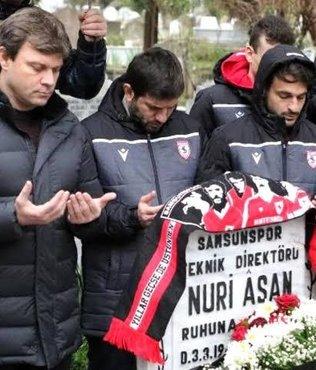 Samsunsporlu futbolcular 31 yıl önceki kazada ölenleri unutmadı