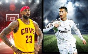 Cristiano Ronaldo ve LeBron James profesyonellikleriyle dikkat çekiyor!