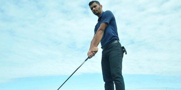 Üç aylık golfçü, rakiplerini korkuttu
