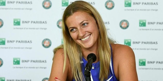 """Kvitova'nın """"Fransa Açık"""" mutluluğu"""