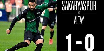 Sakaryaspor, Altay'ı tek golle devirdi!