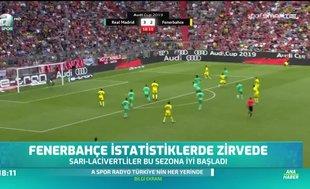 Fenerbahçe istatistiklerde zirvede