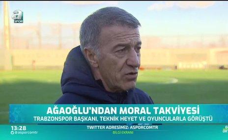 Trabzonspor Başkanı Ağaoğlu takıma güveniyor