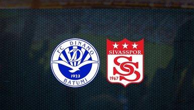 Dinamo Batumi - Sivasspor maçı ne zaman, saat kaçta ve hangi kanalda canlı yayınlanacak? | UEFA Konferans Ligi