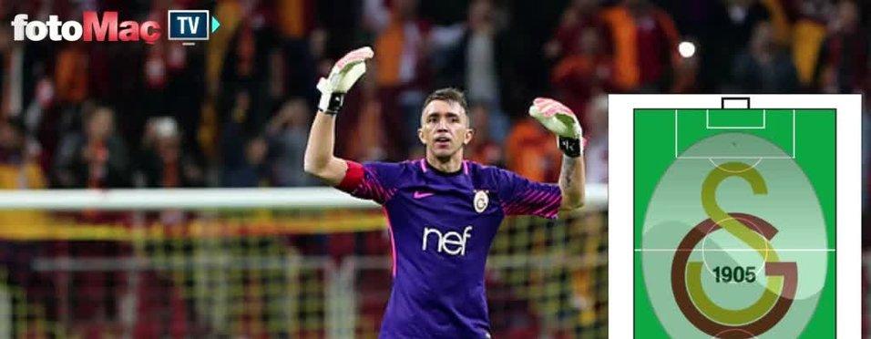 Galatasaray'ın Fenerbahçe karşısındaki ilk 11'i