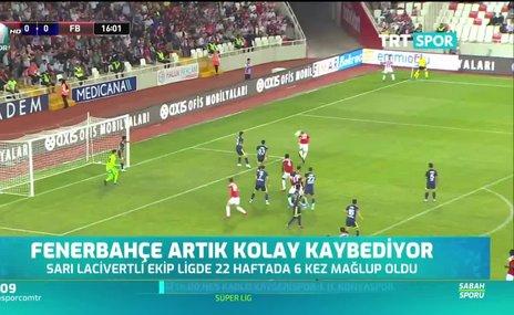 Fenerbahçe ilk yarıdaki performansından uzaklaşıyor