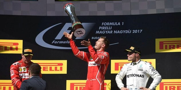 Macaristan'da zafer Vettel'in