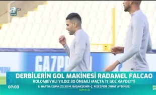 Derbilerin gol makinesi Radamel Falcao