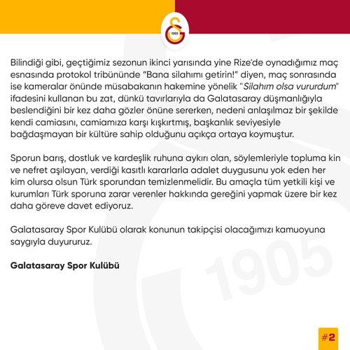 son dakika galatasaraydan caykur rizespor maci sonrasi hakem aciklamasi 1592227429903 - Son dakika: Galatasaray'dan Çaykur Rizespor maçı sonrası hakem açıklaması!