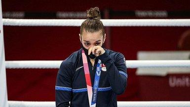 Son dakika spor haberi: Milli sporcu Buse Naz Çakıroğlugümüş madalyasını aldı
