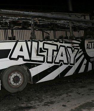 Altay'In takım otobüsü yandı!