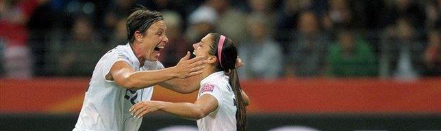 US star Morgan's goal celebration teases England