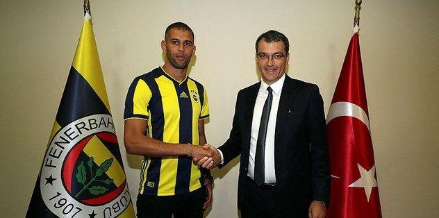 Fenerbahçe yeni transferi Islam Slimani'yi resmen açıkladı