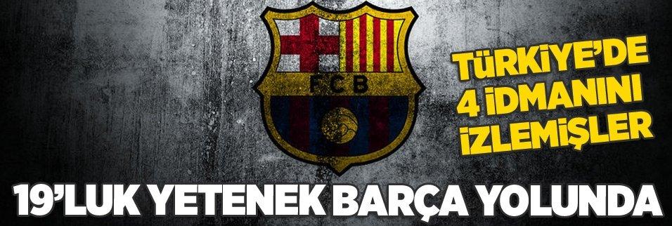 4 idmanını izlemişler! Barça 19'luk yeteneğin peşinde