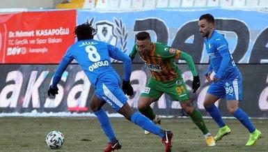 BB Erzurumspor - Alanyaspor: 1-1 (MAÇ SONUCU - ÖZET)