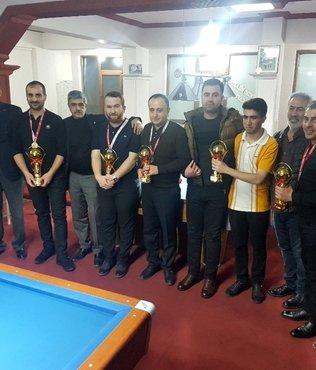 Van'da bilardo şampiyonası