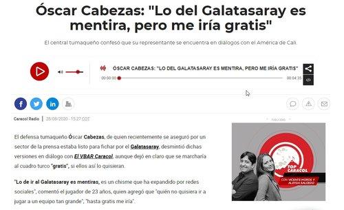 """galatasaray icin cabezastan resmi transfer aciklamasi bedava oynarim 1598691894072 - Galatasaray için Cabezas'tan resmi transfer açıklaması! """"Bedava oynarım"""""""
