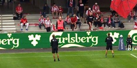 Futbolda bir ilk yaşandı! Sosyal mesafe...
