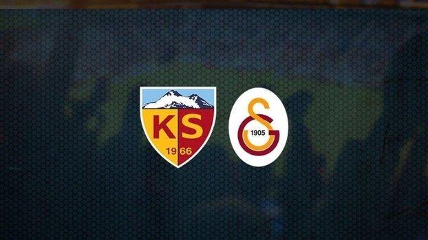 Kayserispor - Galatasaray maçı CANLI | Kayseri - GS maçı izle | Galatasaray maçı canlı skor