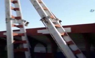 19 Mayıs Stadı'nın demir blokları domino gibi yıkıldı