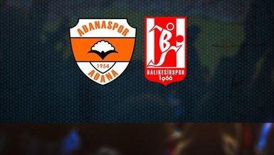 Adanaspor - Balıkesirspor maçı ne zaman, saat kaçta, hangi kanalda?
